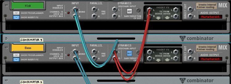 Propellerhead-Reason-Rack Sidechain Kompression Mixing